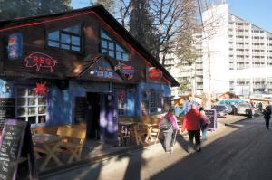 Outside THE BLUE Borovets