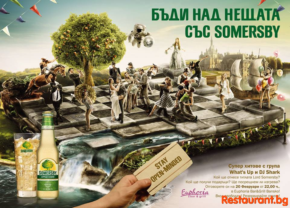 STAY OPEN MINDED - Somersby party