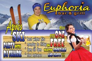 Apres Ski Happy Hour in Euphoria Bar&Grill Bansko