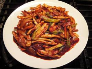 Odjino bokum /Spycy stir fried squid/ 0.200g