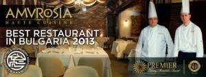 Best Restaurant in Bulgaria for 2013 is..